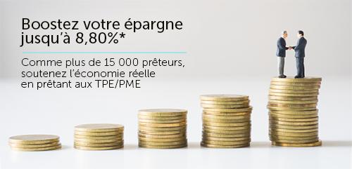 Boostez votre épargne jusqu'à 8,80% avec le financement participatif pour le prêt aux PME avec Credit.fr