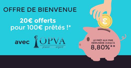Offre de bienvenue : 20€ offerts pour 100€ prêtés* avec Invyo